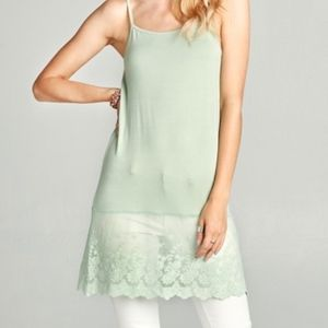 Lovely Lt. Green Lace Dress Extender. NWT